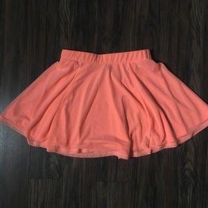 Neon Peach Mini Skirt